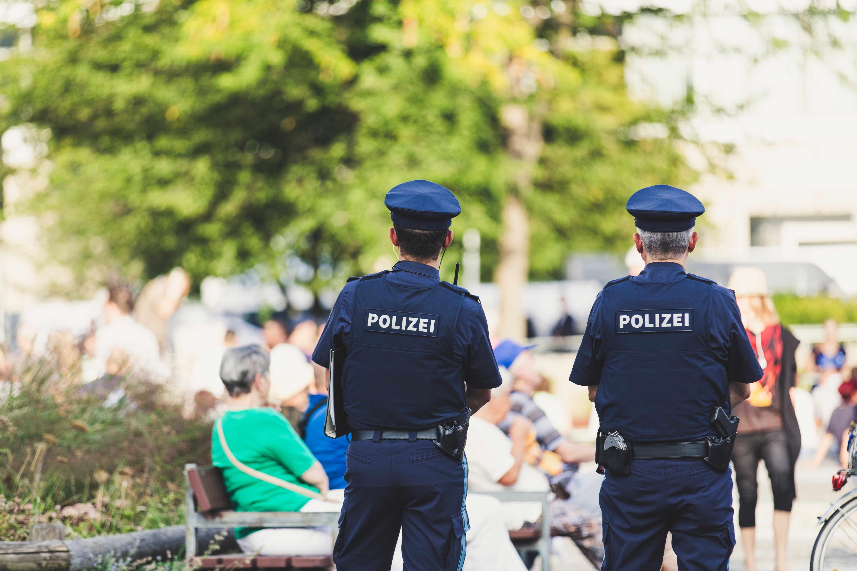 Polizeibeamte im Einsatz; oft Anlass für Beamtenbeleidigung