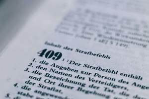 Strafbefehl in der Strafprozessordnung (§ 409 StPO)